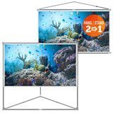 "JaeilPLM 100"" 2-in-1 Portable Projector Screen"