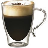 Gourmet by Starfrit 12-Ounce Double-Wall Glass Coffee Cup