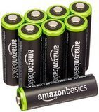 AmazonBasics AA Rechargeable Batteries, 8 Pack