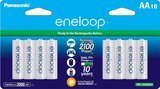 Panasonic eneloop AA 2100 Cycle Ni-MH Pre-Charged Rechargeable Batteries, 16 Pack