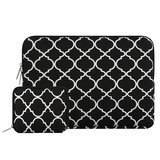 Mosiso Quatrefoil Canvas Laptop Sleeve
