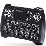 AMBOLOVE Backlit Wireless Mini Keyboard with Touchpad