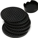Enkore Deep Tray and Groove Coasters  Set of 6